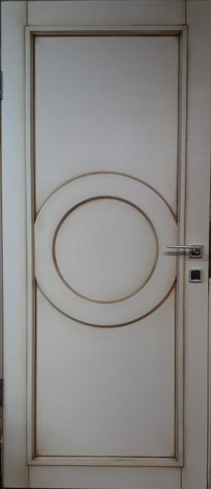 Межкомнатная дверь в профиле массив (эмаль с патиной) Норильск
