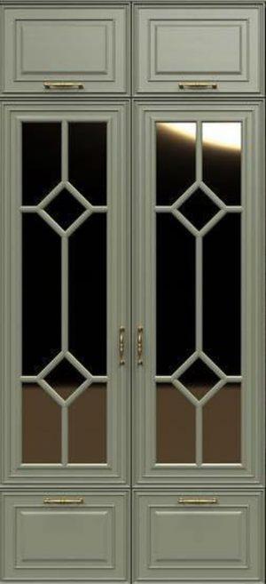 Фасад с фигурной филенкой эмаль Норильск