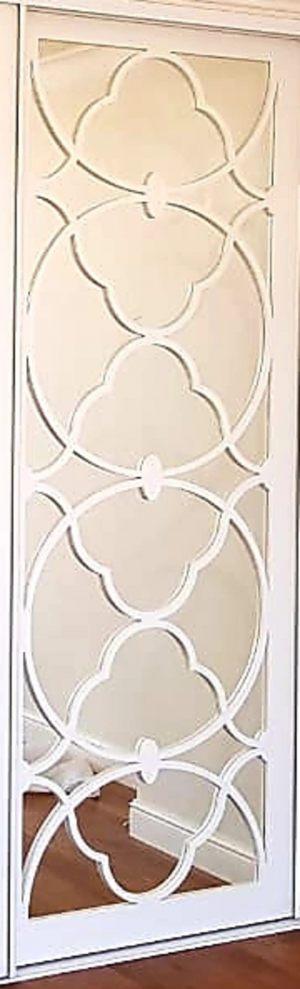 Вставка с фигурной филенкой на зеркале эмаль Норильск