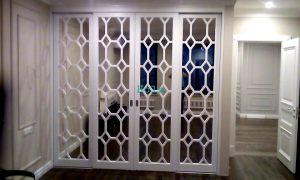 Двери с фигурной филенкой, эмаль Норильск