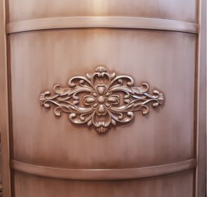 Вставка радиусная с декоративной накладкой эмаль с патиной Норильск