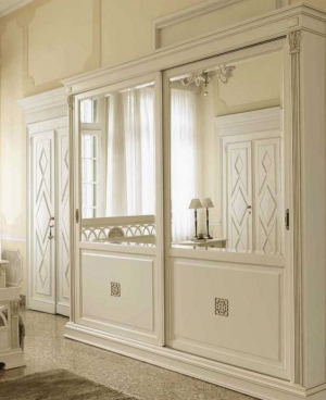 Шкаф купе с филенкой и декоративной накладкой эмаль Норильск