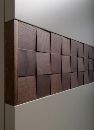 Вставка в двери с накладными квадратами шпон Норильск